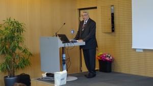 Friedwin Sturm von der Montanuniversität Leoben bei seiner Rede